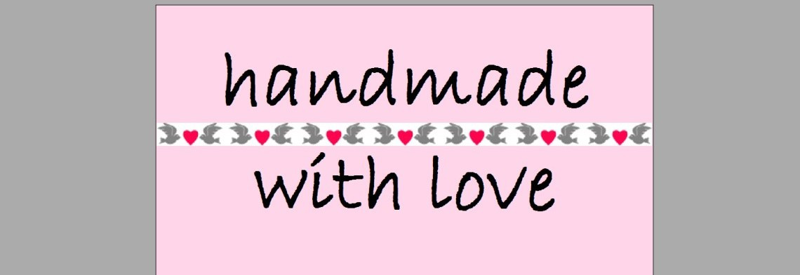 "Etiketten ""handmade"" rosa mit Herzen"