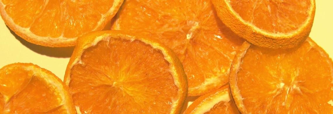 Orangen Scheiben, getrocknet