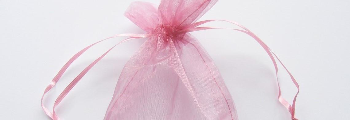 Organzabeutel rosé 15x10cm