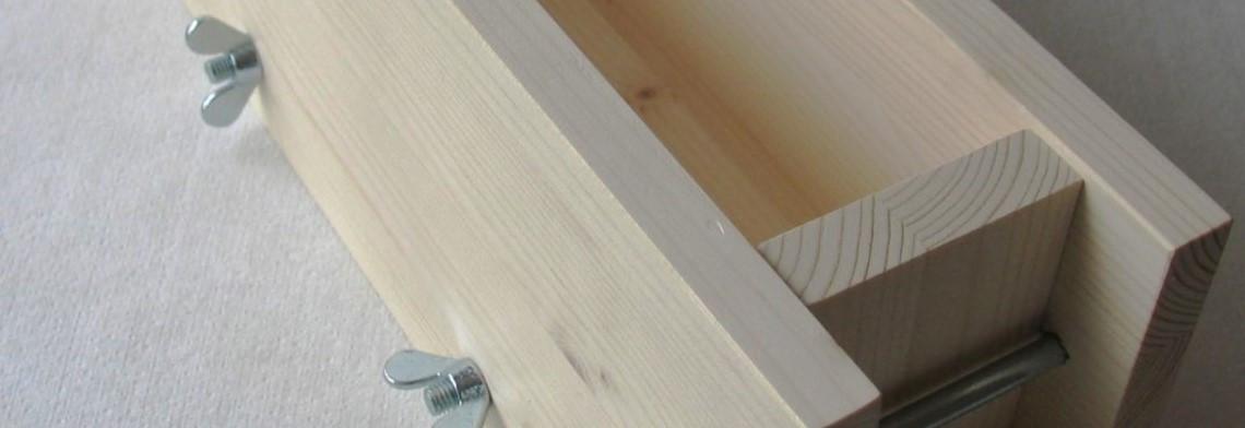 Seifenform aus Holz