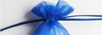 Organzabeutel blau 15x10cm