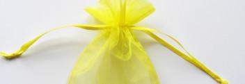 Organzabeutel gelb 15x10cm