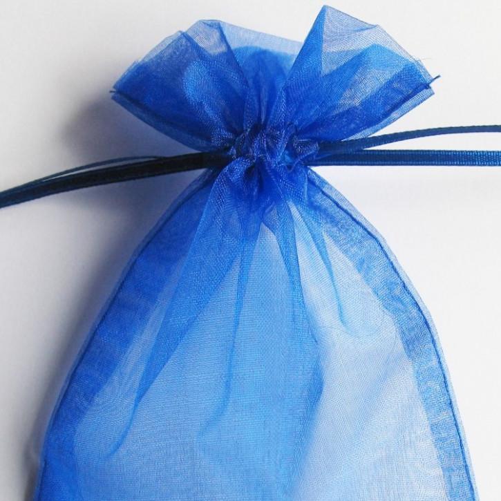 Organzabeutel 15x10cm blau,       5Stück
