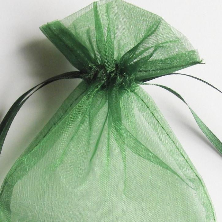 Organzabeutel 15x10cm dunkelgrün,   10Stück