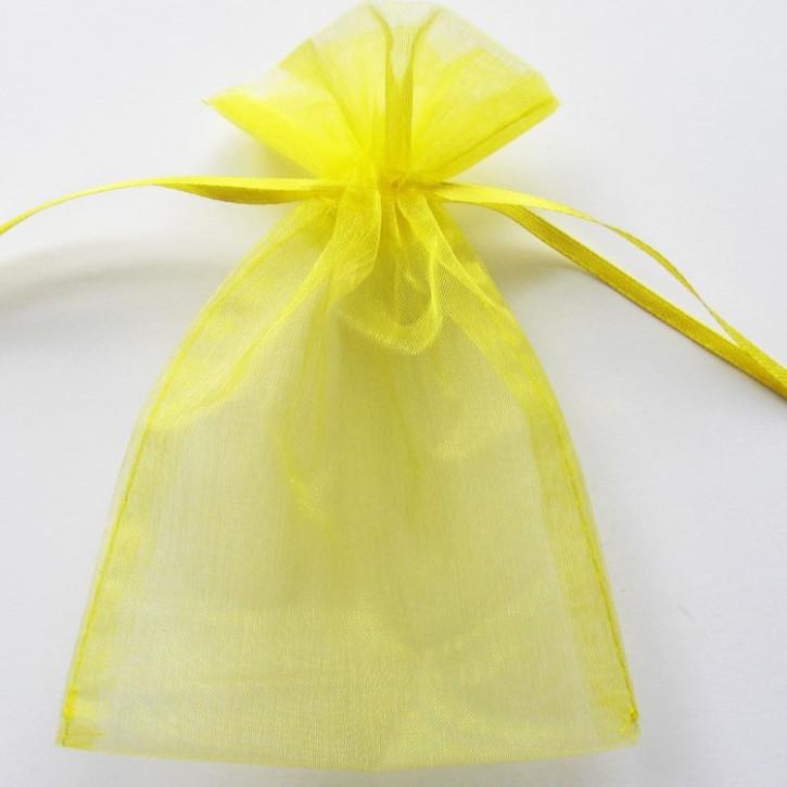 Organzabeutel 15x10cm gelb,    5Stück