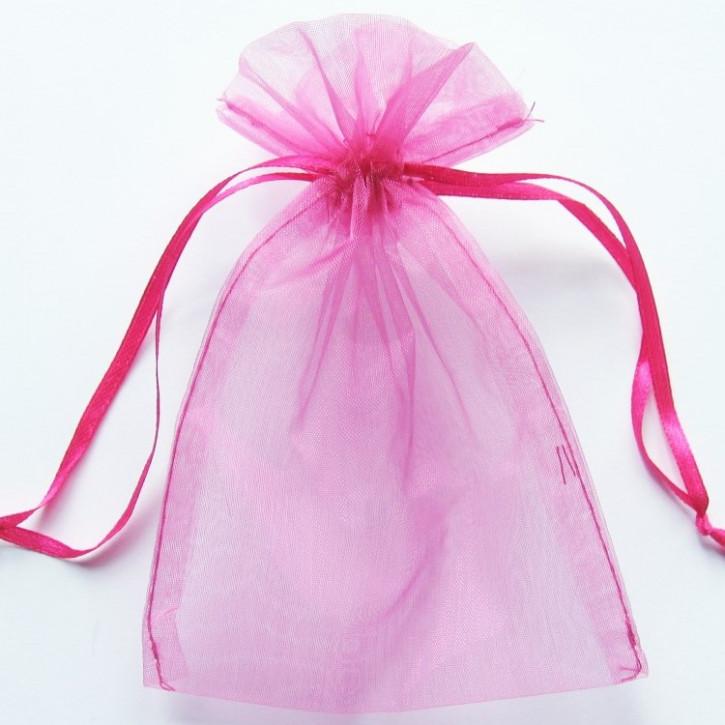 Organzabeutel 15x10cm hot-pink,    5Stück