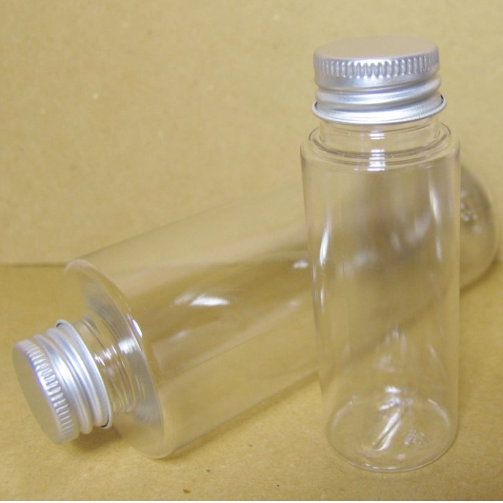 Kosmetikflasche mit Alu-Schraubverschluß  50ml, 1Stück