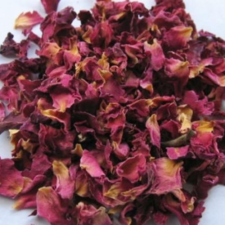 Rosenblütenblätter rot ganz   100g
