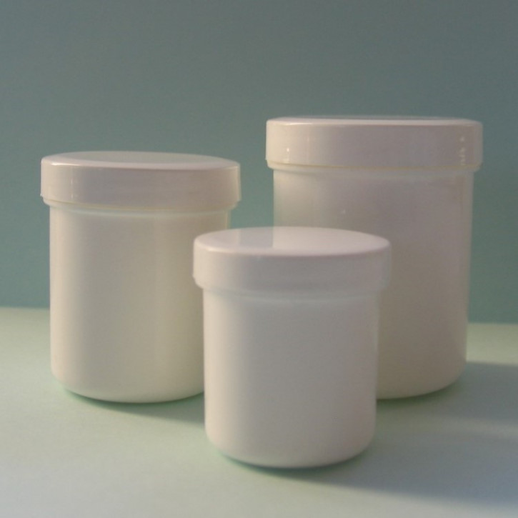 Cremedose weiß  50ml incl. Schraubdeckel,10St