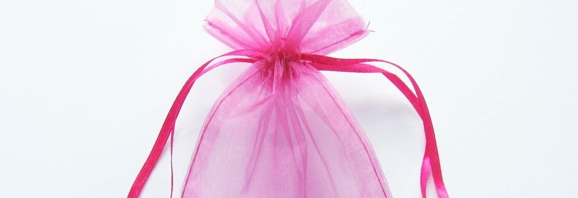Organzabeutel hot-pink 15x10cm